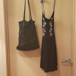 Summer lace up dress and Summer bag
